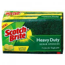 Scotch Brite Scrub Sponge Large Pack of 3